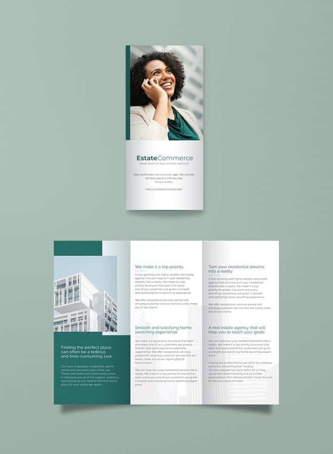 corporate real estate brochure template 版式 pinterest