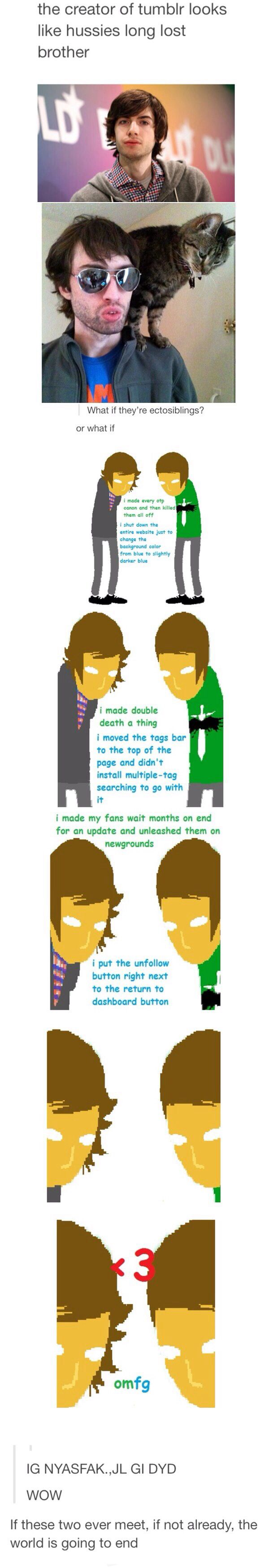 ((Yes. I ship Andrew Hussie and the tumblr guy. It's so perfect.))