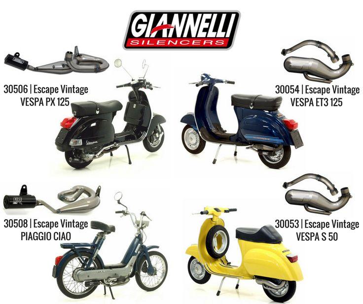 """ESCAPES VINTAGE DA GIANNELLI Vespa, Ciao, Sì, Ape: estes são os nomes que fizeram a história do motociclismo e dos ciclomotores. O interesse por estas """"velhas glórias"""" tem vindo a crescer, com pessoas à procura de """"amostras"""" antigas para serem reparadas e colocadas de volta ao """"ativo"""".  #lusomotos #vespa #piaggio #escape #vintage #ciao #ape #sì #motociclismo #giannelli #qualidade"""