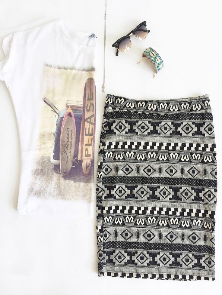 Zomers Setje! #hittegolf #summer #fashion #skirt #sunglasses #inspiration #steegenga