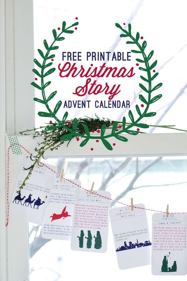 I feel like this could almost line up with the days of #TruthintheTinsel! // RedBirdBlue: Free Printable! {Christmas Story Advent Calendar}