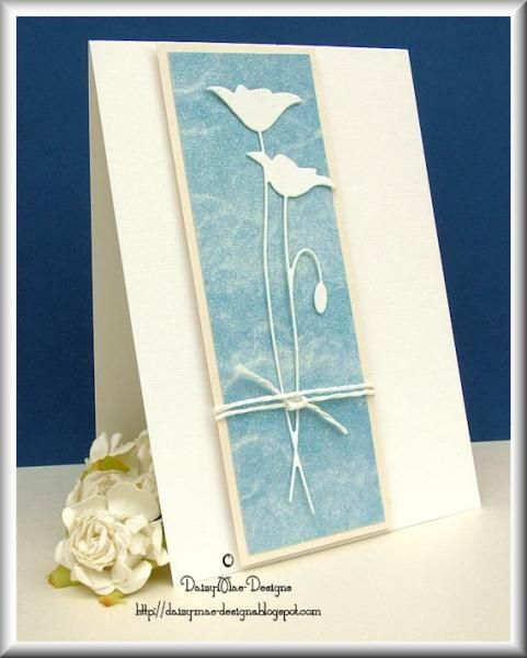 White Poppy card by Daizy-Mae - Cards and Paper Crafts at Splitcoaststampers