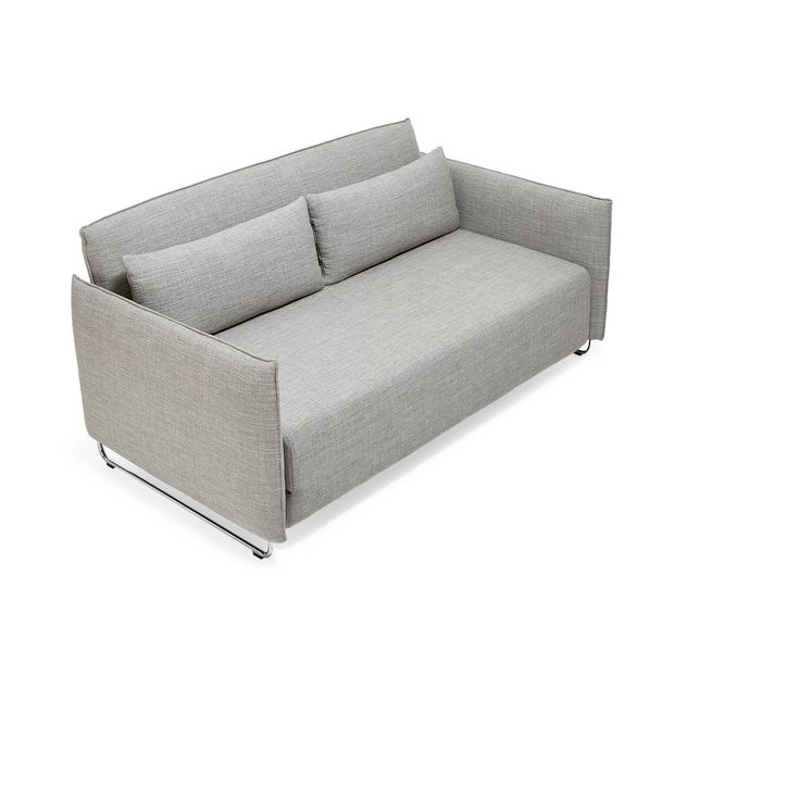 Compact and ideal for urban spaces, this sleeper sofa features cushions clad in wool-and-nylon upholstery set atop sleek, chrome plated steel legs. Its backrest can be adjusted into eight different positions for personalized comfort. Also available as a chair that transforms into a single bed.<br><br>Displaying the quintessential qualities of Scandinavian furniture design - Softline is clean, classic, and minimalistic.