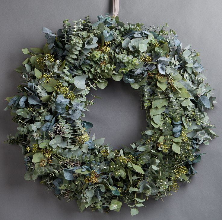 Wild At Heart Mixed Eucalyptus Wreath This Wreath