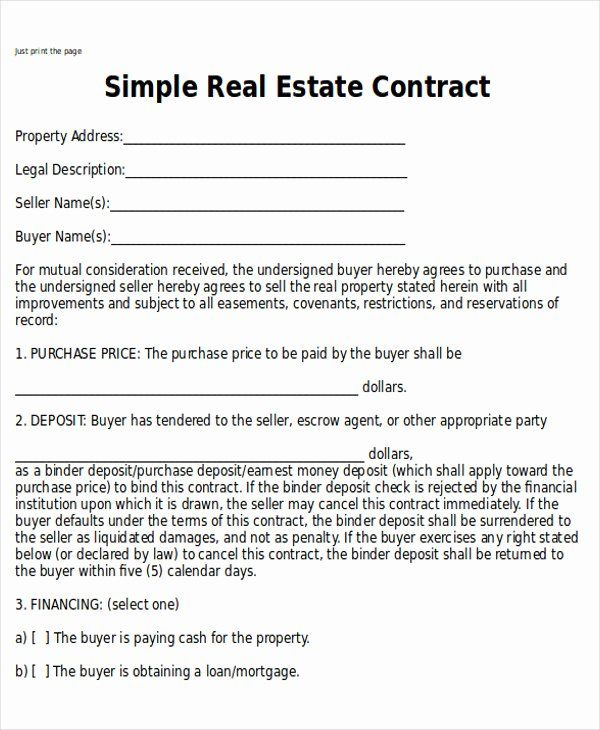 Simple Land Purchase Agreement Form Awesome Sample Home Sales Contracts 7 Examples In Word Pdf Real Estate Contract Contract Template Purchase Contract