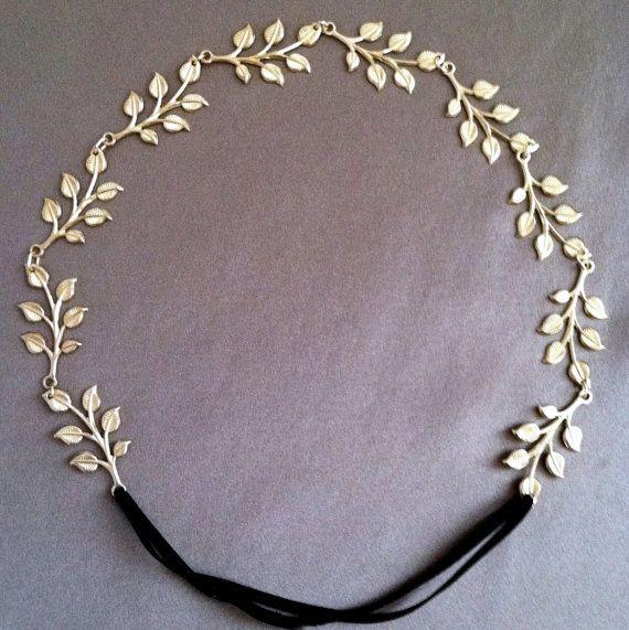 Gilded Goddess Leaf Headband