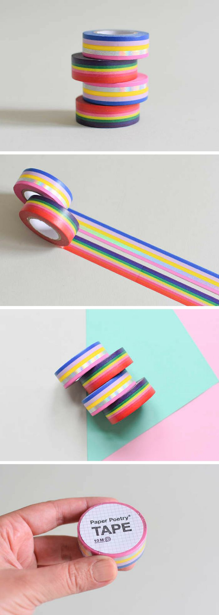 Gorgeous rainbow washi tape for crafting and