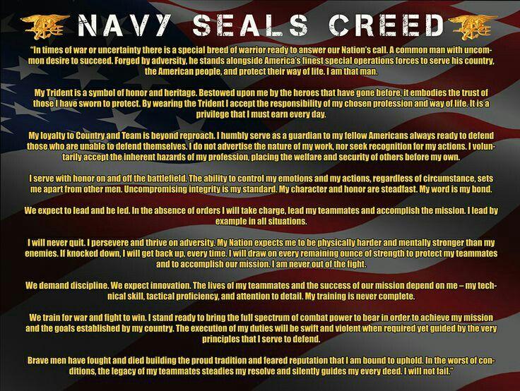 Navy Seals Creed