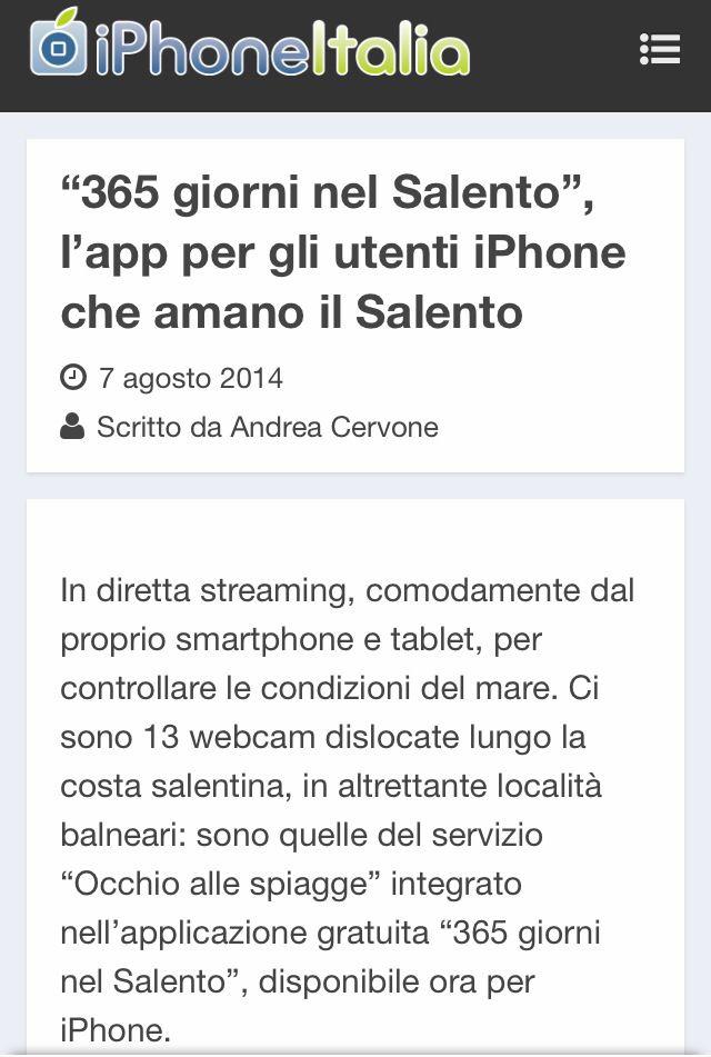 IPhoneItalia per 365 giorni nel Salento App