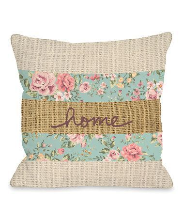 This 'Home' Floral Throw Pillow is perfect! #zulilyfinds
