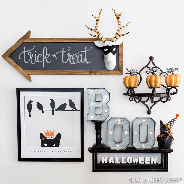 Take your Halloween decor to the next level! Just add a bit of spooky charm to your everyday decor for a ghostly gallery wall.