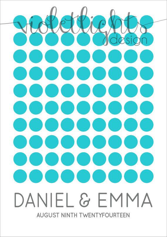 Circles Wedding Guestbook Page  Digital Copy by VioletLightsDesign, $35.00