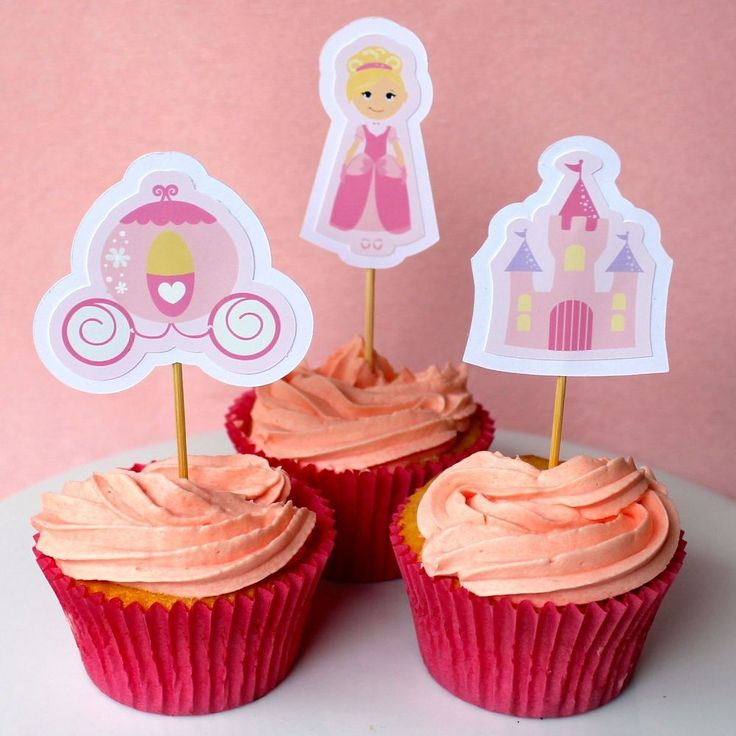 Princess Cupcake Toppers - 6 Pack
