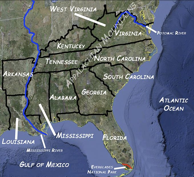Best SS Southeast Region Images On Pinterest Teaching - Southeast region of the us map