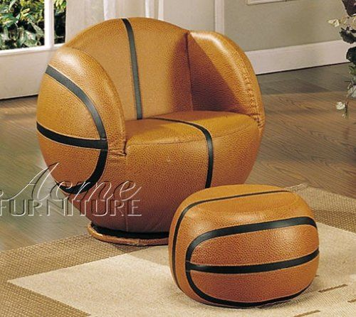 2pc Kid s Basketball Swivel Chair and Ottoman Set. 17 Best images about Boys  bedrooms on Pinterest   Basketball room