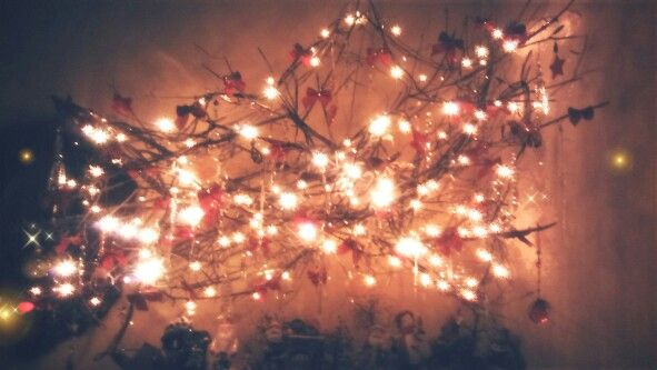DIY Christmas decor- requires branches and Christmas ornaments
