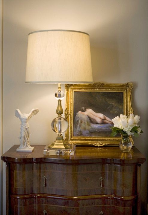 Beautiful Arrangement Featuring Oil Painting And Crystal Lamp Bedroom Decor With Crystal Lamp Bedroom