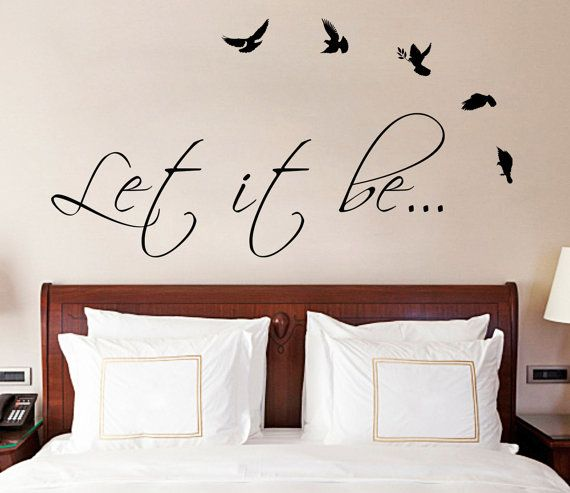 Quote wall sticker vinyl decal for living dining room or bedroom art