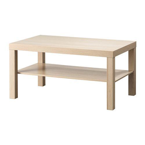 LACK Stolik - biały/bejcowany dąb, imitacja - IKEA