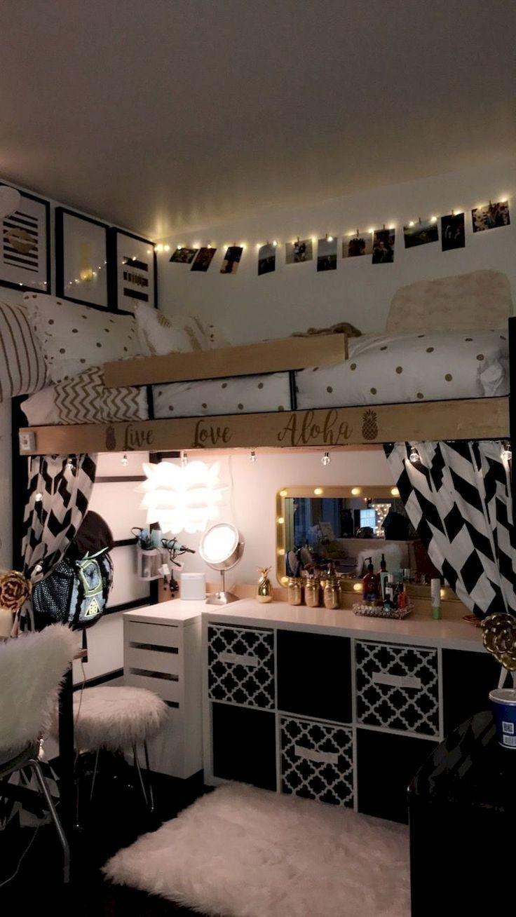 Awesome 75 Cute Dorm Room, der Ideen für ein Budget von homespionally.com schmückt
