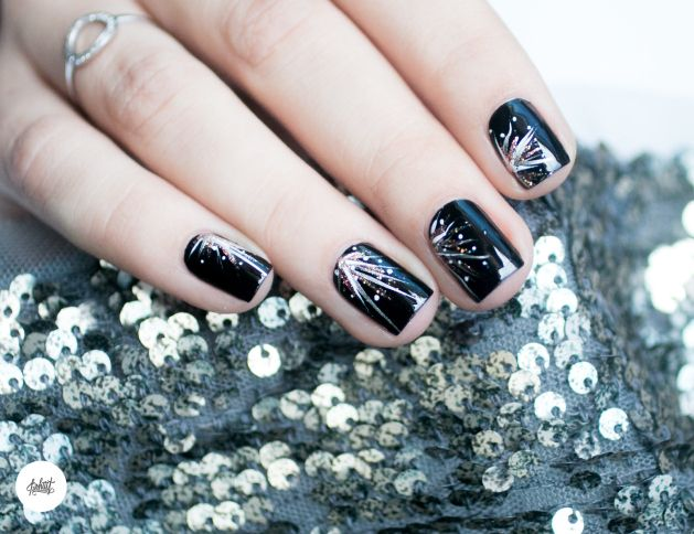 ... nouvel an idees de nail art à paillettes facile pour nouvel an