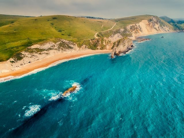 Sea, Ocean, Cliff, Hills, Landscape