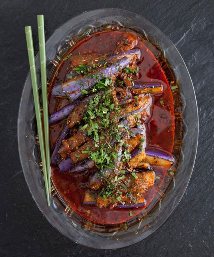 Saveur.com -Red-cooked Eggplant.. This recipe is absolutely divine.. my house smelled of star anise and cinnamon for days... beyond yum!