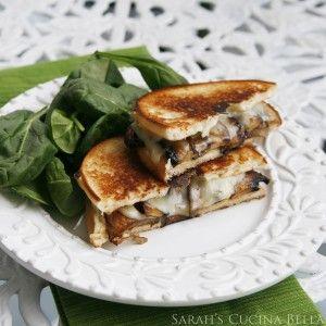 Roasted Portabella Mushroom Grilled Cheese via Sarah Cucina Bella