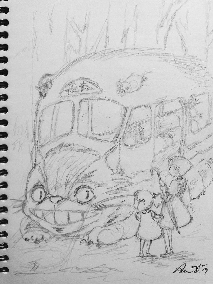 68일 고양이 버스 밑그림 2번째