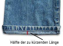 Jeans kürzen einfach