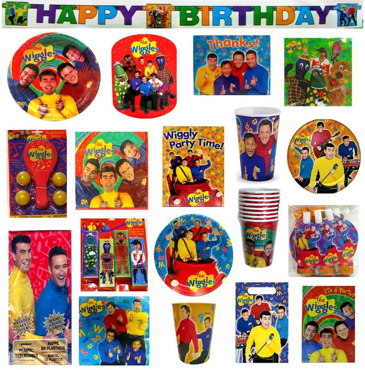 vgt The WIGGLES Birthday PARTY Supplies ~ Pick Only What U NEED ~ Create A Set