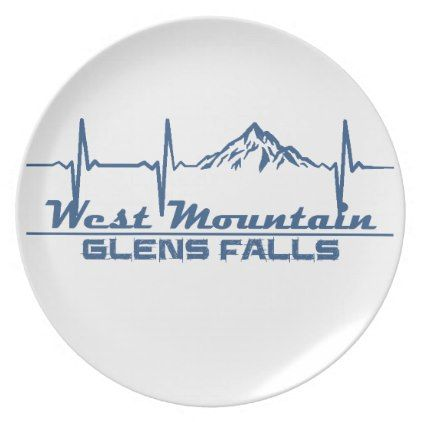 West Mountain  -  Glens Falls - New York Melamine Plate - fall decor diy customize special cyo