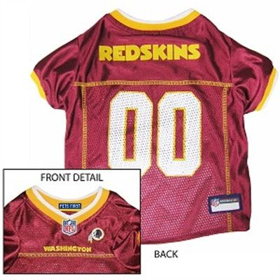 Washington Redskins Apparel for Dogs.  Get your dog ready for the game !