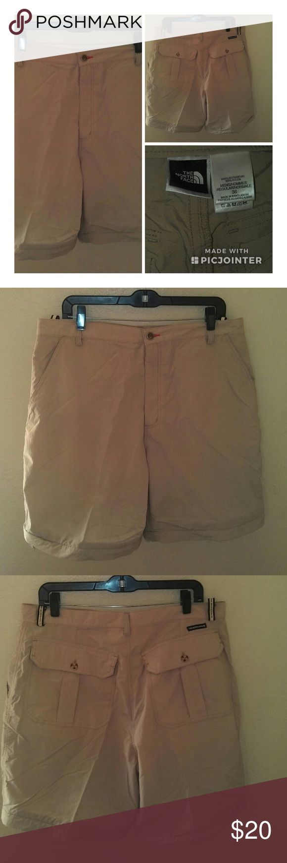 North Face Men's Shorts - size 36 For sale is a lightly used pair of North Face Men's Shorts. Size is 36. Great nylon construction, durable. Button pockets in back. See pictures for details. North Face Shorts Hybrids