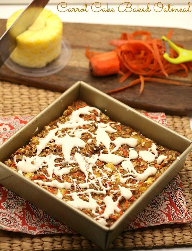 Best Breakfast ever! Healthy, Low Calorie, Low Fat, Carrot Cake Baked Oatmeal Recipe