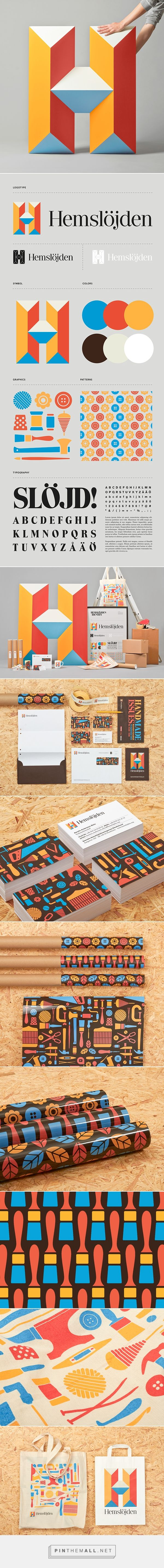 Swedish Handicraft Societies on Behance by Snask curated by Packaging Diva PD. Patterned packaging branding logos.