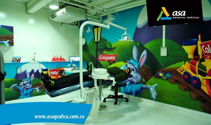 Nuestro trabajo en murales www.asagrafica.com.co