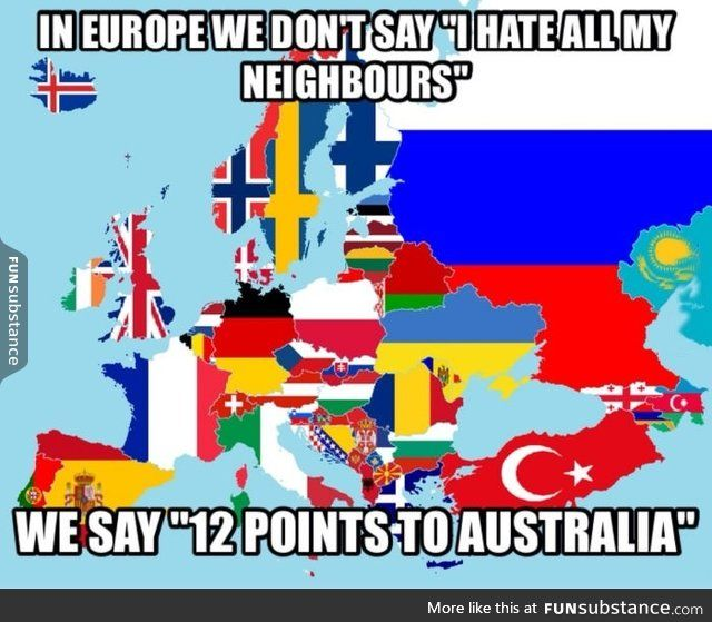 Welcome to the wonderful world of Eurovision