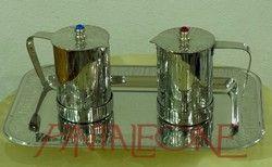 Ampolle in acciaio lucido decorato 5543LMA