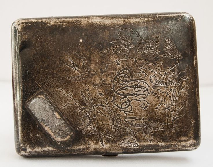 Antique silver cigarette case, 18th century, 84 silver sample, 107 grams. #SovietUSSRSilver