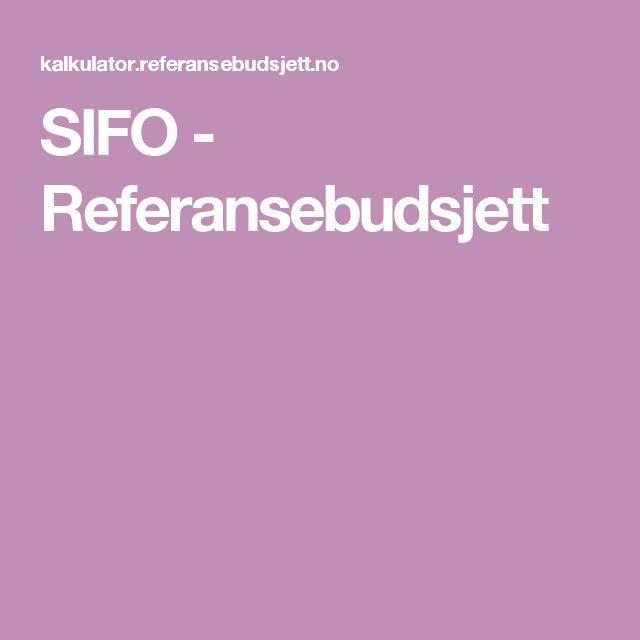 SIFO - Referansebudsjett