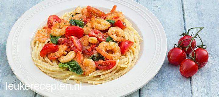 Spaghetti garnalen