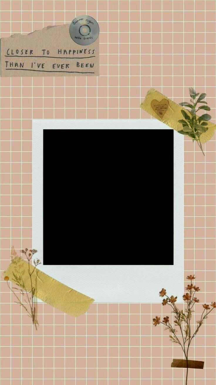 Tampletes Photo Aesthetic Poster Bunga Template Instagram Kartu Bunga