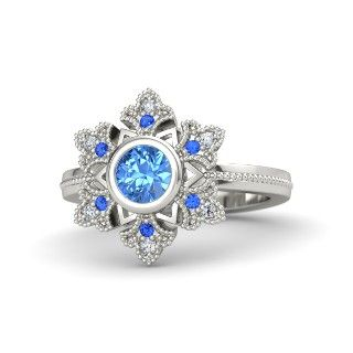 Disney's Frozen: Elsa inspired ring THIS IS GORGEOUS.