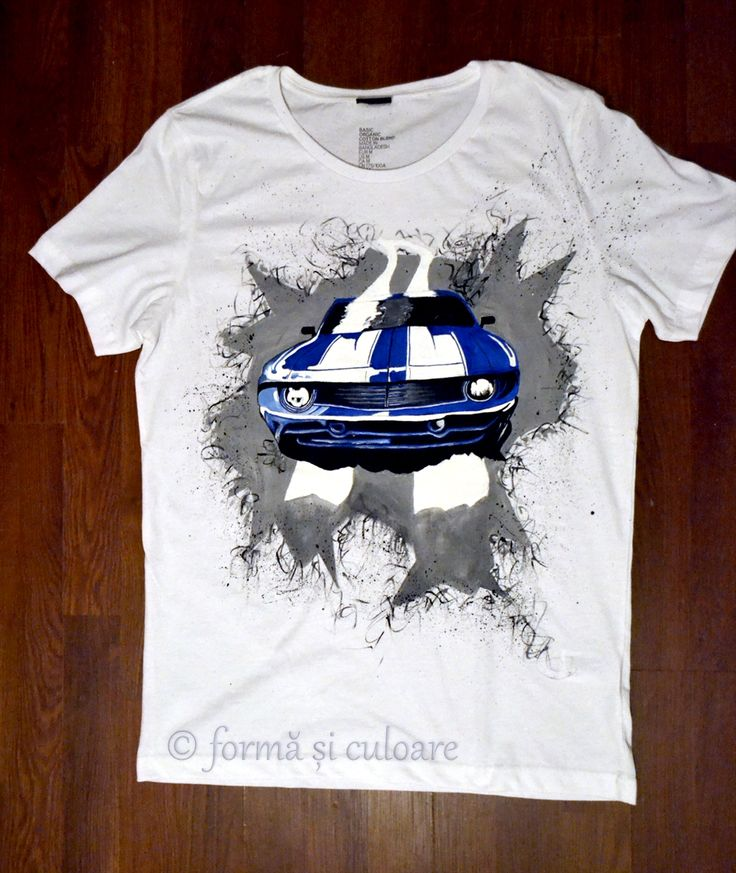 To make presents is kind of hobby of mine. It's super easy: I  grab a t-shirt and  paint it with something dear for that person.  In this case, cars! So, let the car run, but wash it carefully in the washing machine at max 40 degree delicate circle or by hand. Iron medium inside out. :)  More detailed photos here: http://formasiculoare.wordpress.com/2014/10/27/the-runing-car/