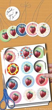 Find cute as a button printables like these 'strawberry circles' for very affordable prices at Miraculous Mosquito's Website! Instant downloads delivered straight to your email.