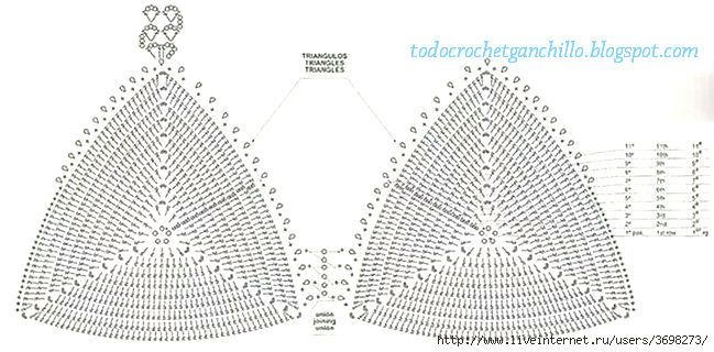 diagrama crochet de corpiño