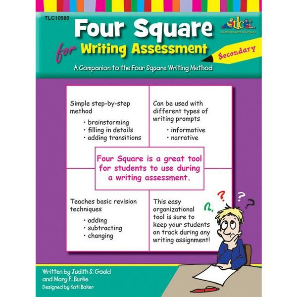 This new addition to the popular Four Square series helps prepare students for the writing assessment. Students will learn an organized, Four Square approach for brainstorming, as well as a simple three-step revision process to use on their initial drafts. On assessment day, teachers cannot confer with students, and students cannot assist one another. The writer must have a method to deliver their best writing on demand. That writing needs to be organized, focused, detailed, and engaging…