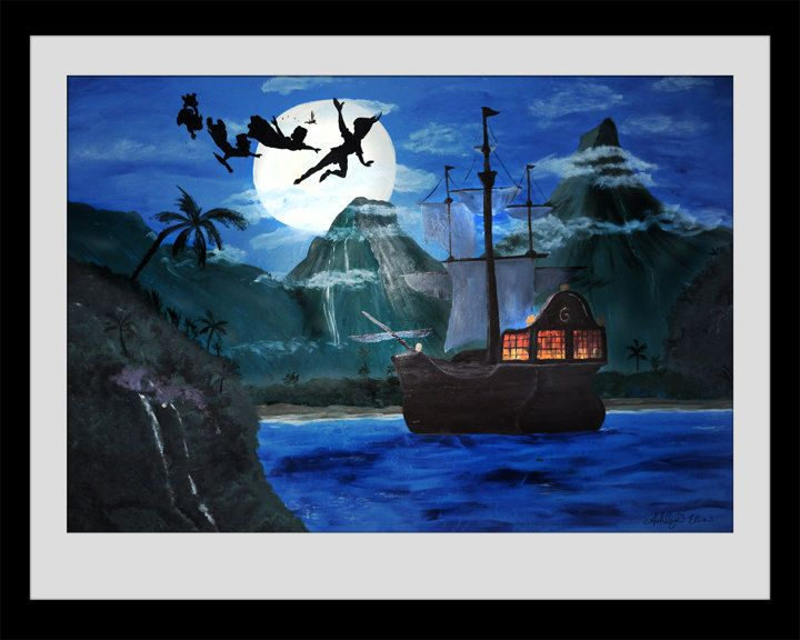 Neverland Pirate Ship Art PRINT @ Amber Dahl