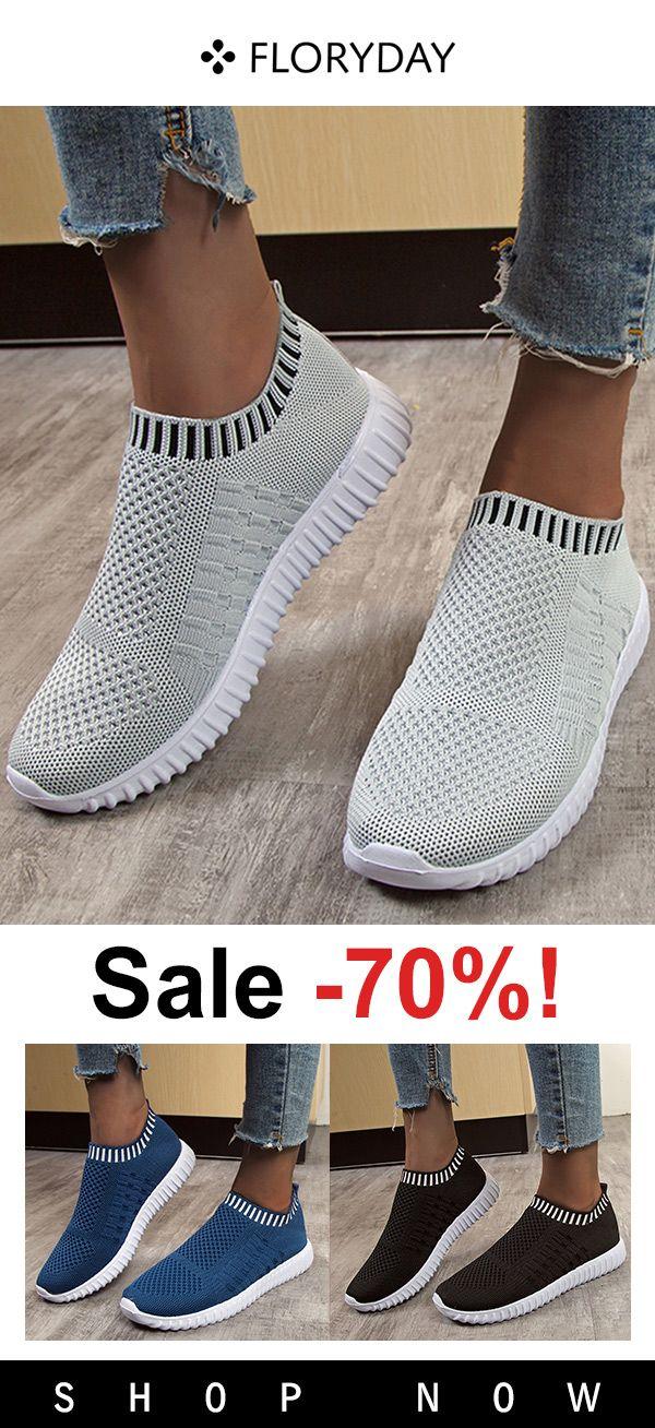 bowknot cloth flat heel sneakers